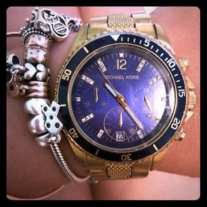 Michael Kors watch. Gold and navy